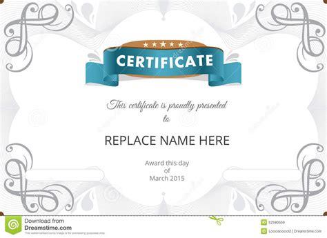 illustrator certificate template certificate border certificate template vector