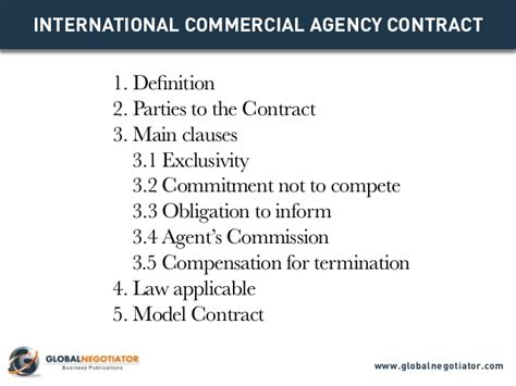 Agreement Letter For Modeling Agency International Commercial Agency Contract Contract Template And S