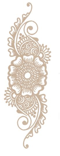 blue lotus henna custom henna tattoo design in portland