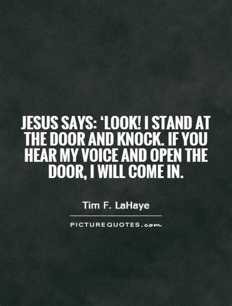 jesus says look i stand at the door and knock if you