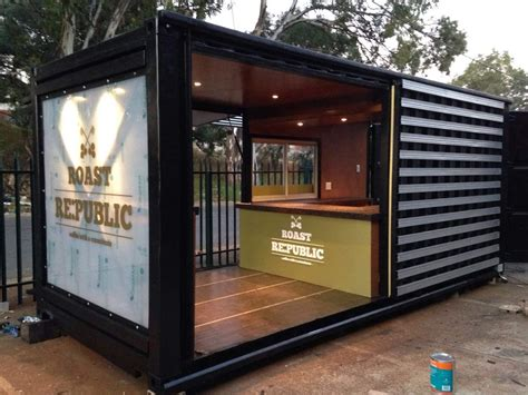mobiles wohnen container shipping container is converted into a chic coffee