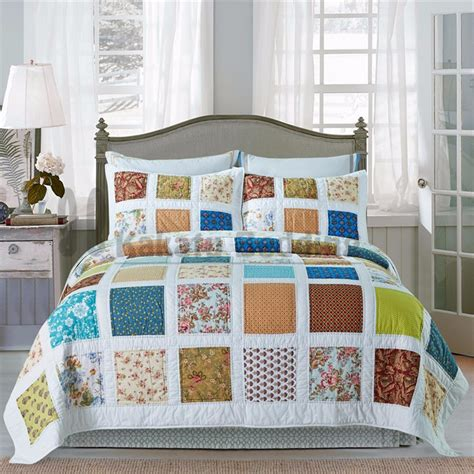 Patchwork Bed - 2016 beautiful design quilt patchwork bed sheet buy bed