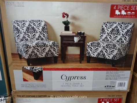 black and white accent chair costco ave six cypress chair and table set