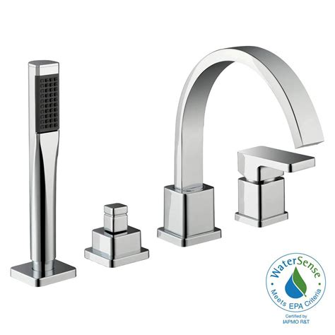 Schon Faucet by Schon Marx Single Handle Deck Mount Tub Faucet With Handshower In Chrome Hd67526w 5101