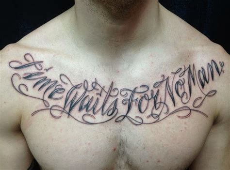 chest tattoo quotes for men 41 quotes tattoos on chest