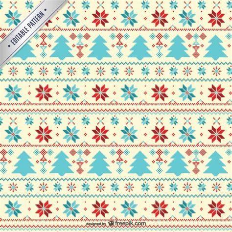 christmas pattern download cross stitch style christmas pattern vector free download