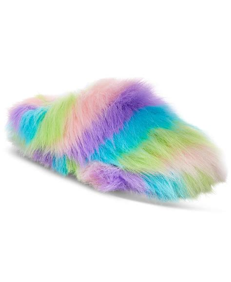 betsey johnson house slippers betsey johnson xox dreamworks trolls splash fuzzy slippers only at macy s in