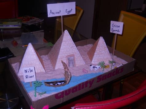 pyramid craft project the great pyramid of giza school project our work