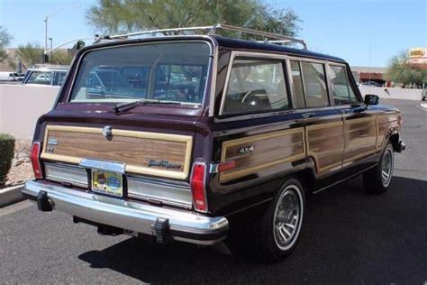1989 jeep wagoneer limited 1989 jeep grand wagoneer limited 4x4 90 521 miles black