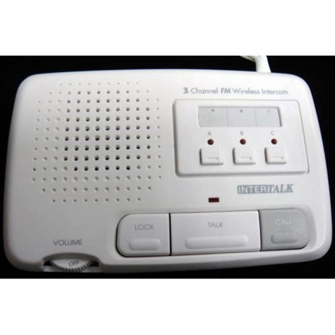 intertalk fm134wht3 220v fm wireless 3 channel home
