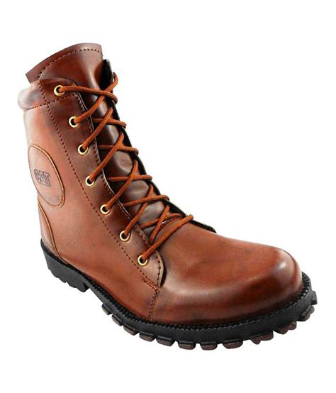 63 on elvace synthetic leather boots on snapdeal