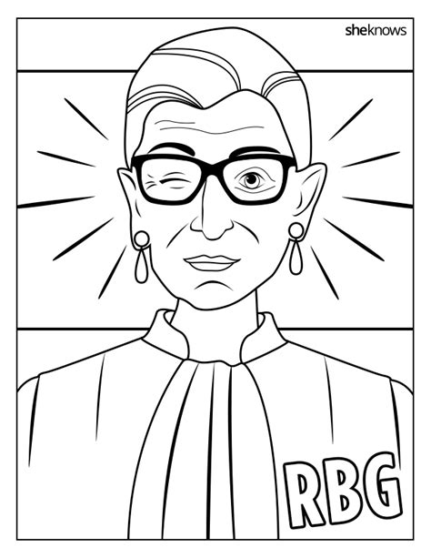 Pdf Ruth Bader Ginsburg Coloring Book by Ruth Bader Ginsburg Rbg Supreme Court Justice Feminist