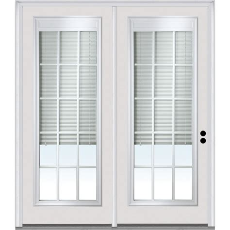 Mini Blinds For Patio Doors Doorbuild Mini Blinds Collection Steel Prehung Patio Door Primed 68 Quot X80 Quot