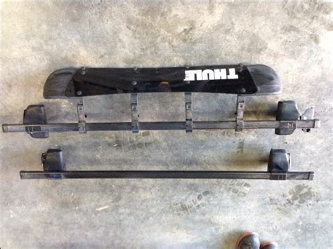 Thule Roof Rack Wind Deflector thule roof rack with wind deflector for honda fit cbell