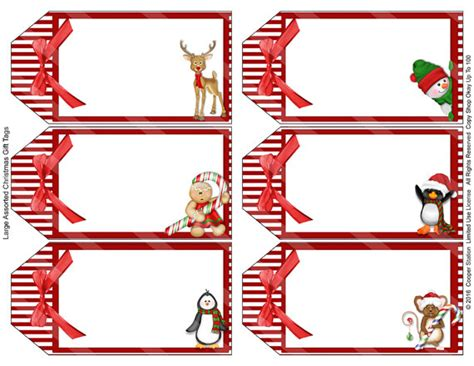 digital printable assorted large holiday gift tags christmas