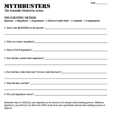 Middle School Science Praxis Essay Questions by The Science Use Mythbusters To Teach Scientific Method Science Lesson Plans