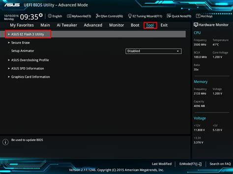 How To Update Bios Asus Laptop Windows 10 asus ez flash 3 introduction