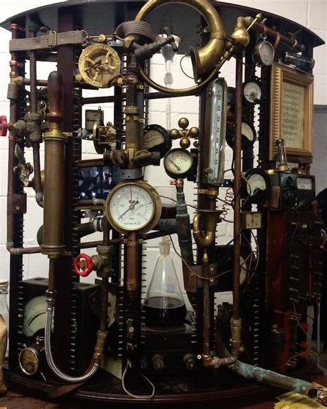 Decorating With Wallpaper by Antiquated Complicated Steampunk Coffee Machine Voted