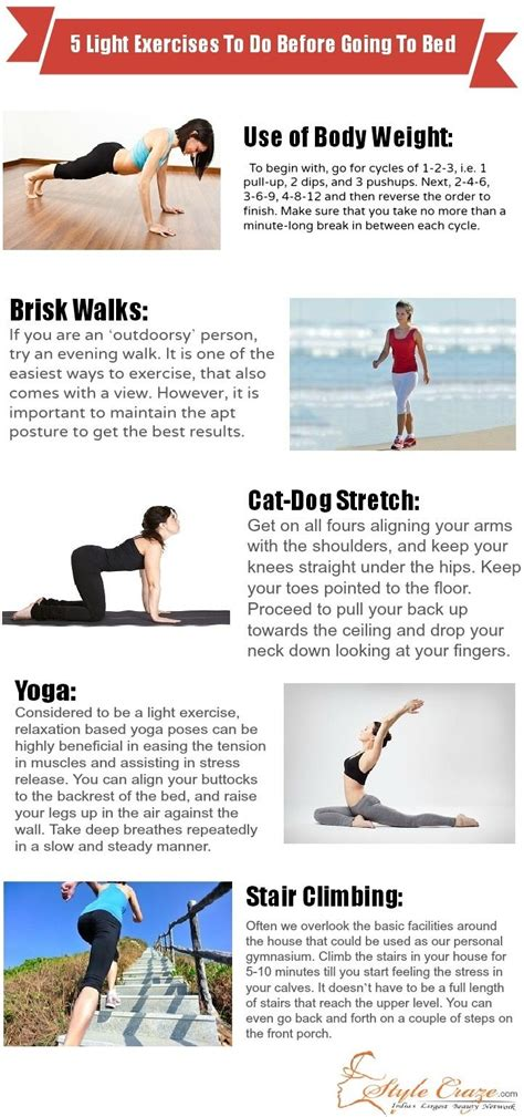 workouts to do before bed 5 light exercises to do before going to bed