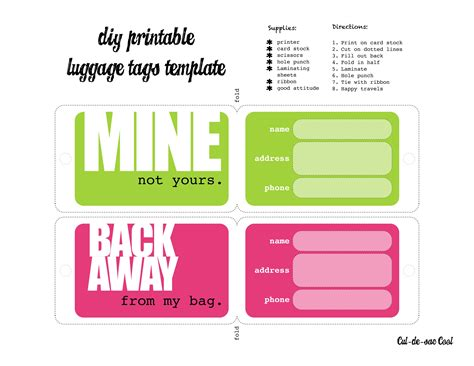 luggage card template luggage tags template i was able to print them and cut