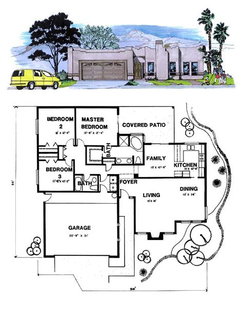 santa fe house plans santa fe southwest house plan 54604