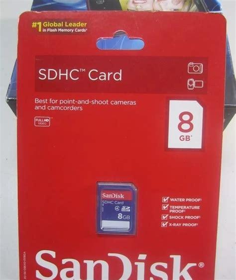 memoria camara memoria para camara digital sandisk sdhc card de 8 gb s