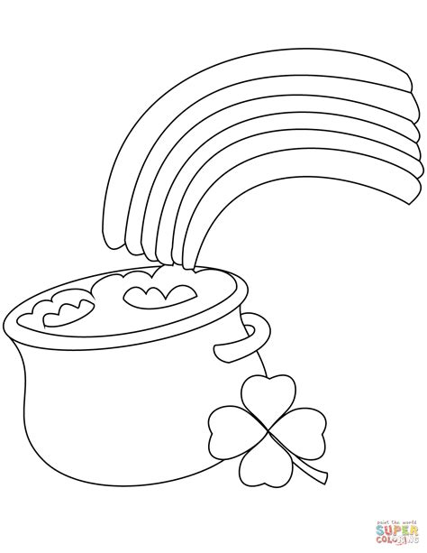 pot of gold coloring page rainbow and pot of gold coloring page free printable