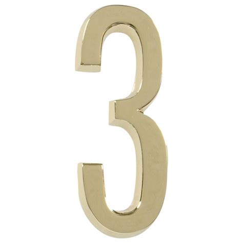 hillman house numbers the hillman group distinctions 4 in flush mount brushed nickel house number 6 843326