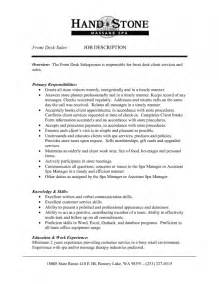 job summary for front desk and customer service resume