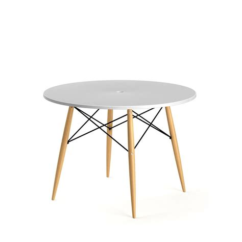 table ronde design blanche table 224 manger ronde skoll style scandinave par drawer