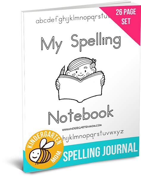 printable spelling journal spelling printables