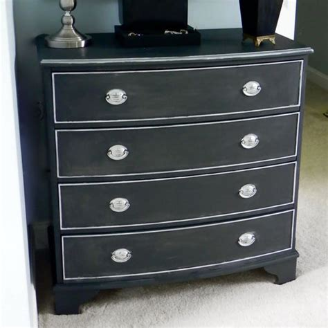 Painting A Dresser Black blackboard paint diy modern furniture decoration in black