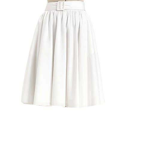 Whita Skirt white gather waist skirt with loops and cover belt custom fit handmade cotton fabric