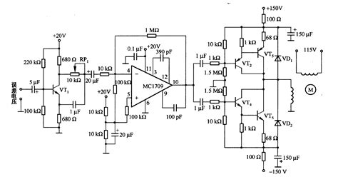 circuit diagram for electric motor with electronic