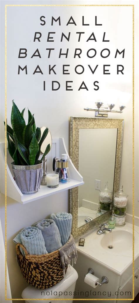 small apartment bathroom ideas small rental bathroom makeover ideas not a passing fancy