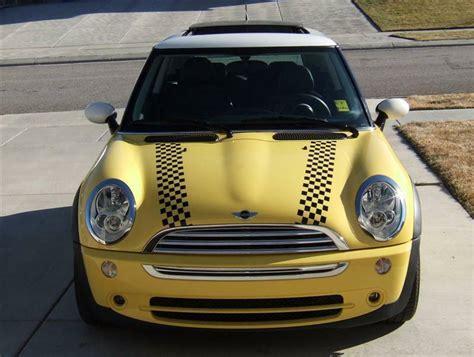 mini cooper bonnet checkered stripes hood vinyl decal