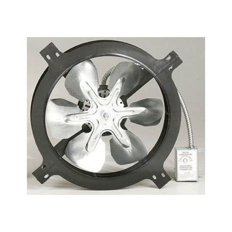 air vent 18 in dia electric gable vent fan air vent 53315 gable mount power attic ventilator fan 1050