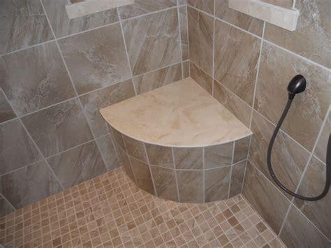 tile seat in shower tile shower seat