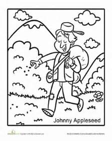johnny appleseed coloring page education com