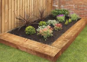 garden landscaping with railway sleepers the garden