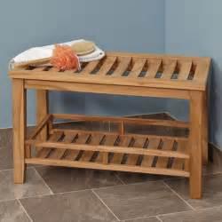 large teak rectangular ada compliant shower stool