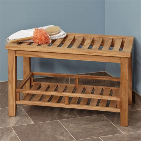 Bathroom Benches Large Teak Rectangular Ada Compliant Shower Stool