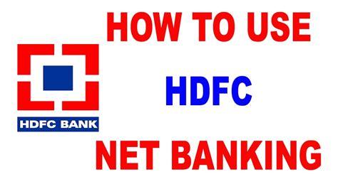 hdfc bank netbaning hdfc net banking