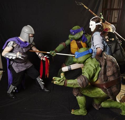 Mutant Turtles L by C O S P L A Y Power Turtles Shredder And