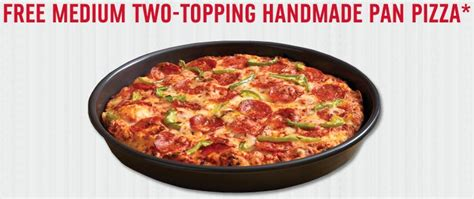 Handmade Pan Pizza Coupon - available again possibly free domino s pizza today