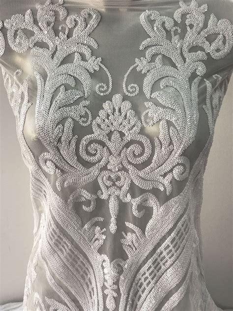 Dress White Tile Lace bridal lace white lace baroque bridal lace wedding