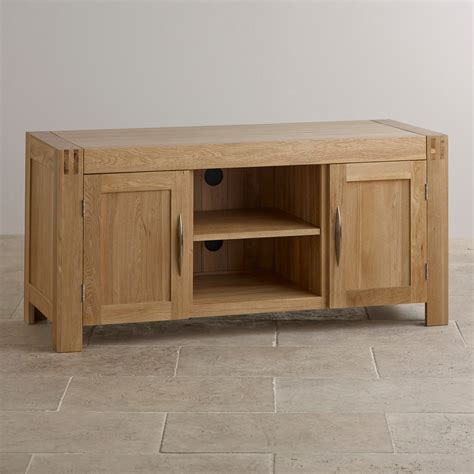 alto solid oak large tv cabinet solid oak oak