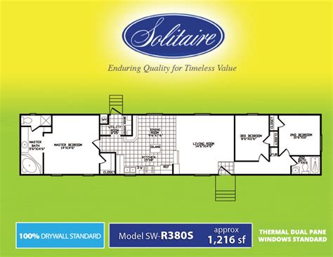 solitaire homes floor plans solitaire mobile home floor plans 28 images floor
