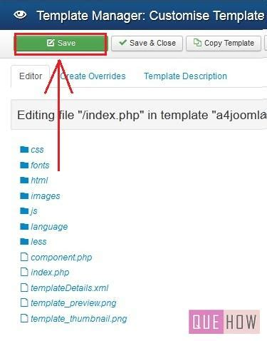 how to edit templates how to edit a template in joomla 3 x 10 steps with