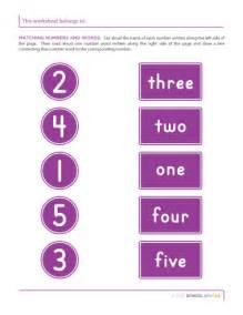 Number worksheets school sparks